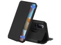 Husa Piele DUX DUCIS Skin X pentru Samsung Galaxy A21s, Neagra, Blister