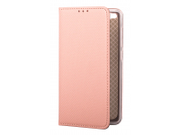Husa Piele OEM Smart Magnet pentru Samsung Galaxy A20e, Roz Aurie