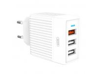 Incarcator Retea USB XO Design L58, 3 x USB, 18W, Quick Charge, Alb