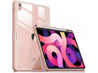 Husa Tableta Poliuretan INFILAND Crystal pentru Apple iPad Air (2020), Roz, Blister