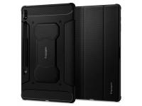 Husa Tableta TPU Spigen RUGGED ARMOR pentru Samsung Galaxy Tab S7 Plus T970, Neagra, Blister ACS01607