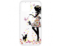 Husa TPU OEM Antisoc Painted Girl pentru Apple iPhone 12 mini, Multicolor, Bulk