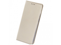 Husa Piele OEM Smart Skin pentru Motorola Moto G9 Play, Aurie