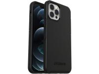 Husa Plastic - TPU OtterBox Symmetry MagSafe pentru Apple iPhone 12 Pro Max, Neagra, Blister