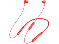 Casti Bluetooth Lenovo QE08 IPX5 Waterproof 9D Audio, Neckband, Rosii, Blister