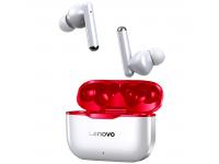 Handsfree Casti Bluetooth Lenovo LivePods LP1, Alb Rosu, Blister