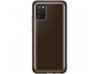 Husa TPU Samsung Galaxy A02s, Clear Cover, Neagra EF-QA026TBEGEU