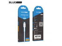 Cablu Date si Incarcare USB la MicroUSB BLUE Power BDU01 Novel, 1 m, 2.4 A, Alb, Blister