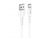 Cablu Date si Incarcare USB la USB Type-C BLUE Power BDU01 Novel, 1 m, 2.4 A, Alb