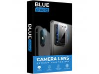 Folie Protectie Camera spate BLUE Shield pentru Apple iPhone 12 Pro Max, Sticla securizata, HD, 0.7mm, 3D, 9H, Neagra