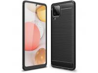 Husa TPU Tech-Protect Carbon pentru Samsung Galaxy A12 A125, Neagra, Blister