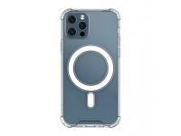Husa TPU OEM MagSafe Magnetic Antisoc pentru Apple iPhone 12 / Apple iPhone 12 Pro, Transparenta, Bulk