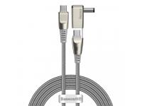 Cablu Incarcare USB Type-C la USB Type-C / M25 Baseus CA1T2, 2in1, 2 m, 100W, 5A, Interfata Laptop Lenovo M25, Gri, Blister CA1T2-A0G