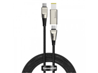 Cablu Incarcare USB Type-C la USB Type-C / M25 Baseus CA1T2, 2in1, 2 m, 100W, 5A, Interfata Laptop Lenovo M25, Negru, Blister CA1T2-B01
