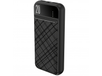 Baterie Externa Powerbank XO Design PR111, 20000 mA, Power Delivery (PD) - Quick Charge 3.0, Neagra