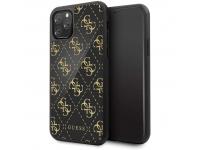 Husa Plastic - TPU Guess 4G Double Layer Glitter pentru Apple iPhone 11 Pro Max, Neagra, Blister GUHCN654GGPBK