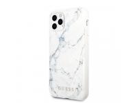 Husa Plastic - TPU Guess Marble Design pentru Apple iPhone 11 Pro Max, Alba GUHCN65PCUMAWH