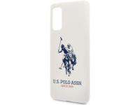 Husa TPU U.S. Polo Big Horse pentru Samsung Galaxy S20 Plus G985, Alba, Blister USHCS67SLHRWH