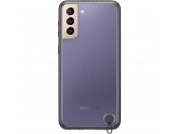 Husa Plastic Samsung Galaxy S21 5G, Clear Protective Cover, Neagra EF-GG991CBEGWW