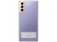 Husa TPU Samsung Galaxy S21 5G, Standing Cover, Transparenta EF-JG991CTEGWW