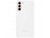 Husa Samsung Galaxy S21+ 5G, Led Cover, Alba EF-KG996CWEGWW