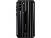 Husa Plastic Samsung Galaxy S21+ 5G, Protective Standing Cover, Neagra EF-RG996CBEGWW