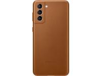 Husa Piele Samsung Galaxy S21 5G, Leather Cover, Maro, Blister EF-VG991LAEGWW