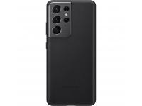 Husa Piele Samsung Galaxy S21 Ultra 5G, Leather Cover, Neagra EF-VG998LBEGWW