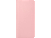 Husa Samsung Galaxy S21 5G, LED View Cover, Roz EF-NG991PPEGEE