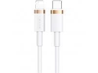 Cablu Date si Incarcare USB Type-C la Lightning Usams U63 US-SJ485, 2 m, 20W PD Fast Charge, Alb, Blister SJ485USB02