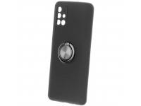Husa TPU OEM Ring pentru Samsung Galaxy M51, Neagra