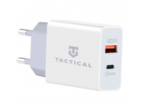 Incarcator Retea USB Tactical AR-PD-30W, 1 X USB - 1 X USB Tip-C, QC3.0, 3.4A, Alb, Blister