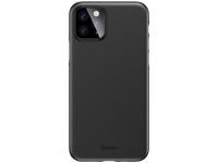 Husa Plastic Baseus Wing Ultra Thin pentru Apple iPhone 11 Pro, Neagra, Blister WIAPIPH58S-A01