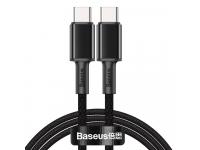 Cablu Date si Incarcare USB Type-C la USB Type-C Baseus, 1 m, 100 W, 5 A, Negru, Blister CATGD-01
