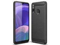 Husa TPU Forcell Carbon pentru Samsung Galaxy A02s, Neagra, Bulk