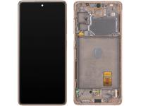 Display - Touchscreen Samsung Galaxy S20 FE 5G, Cu Rama, Portocaliu GH82-24215F