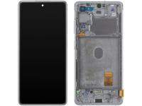 Display - Touchscreen Samsung Galaxy S20 FE 5G, Cu Rama, Alb GH82-24214B