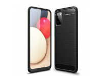 Husa TPU Tech-Protect Carbon pentru Samsung Galaxy A02s, Neagra, Blister