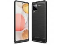 Husa TPU OEM Carbon pentru Samsung Galaxy A42 5G, Neagra, Bulk