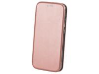 Husa Piele OEM Elegance pentru Samsung Galaxy A20s, Roz Aurie