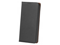 Husa Piele OEM Smart Pro pentru Motorola Moto G9 Play, Neagra, Bulk