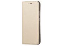 Husa Piele OEM Smart Magnet pentru Samsung Galaxy A42 5G, Aurie, Bulk
