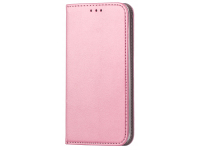 Husa Piele OEM Smart Magnetic pentru Samsung Galaxy A42 5G, Roz Aurie, Bulk