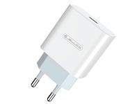 Incarcator Retea USB JELLICO AK-180, 1 X USB Tip-C, 20W, Quick Charge, Alb