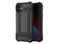 Husa Plastic - TPU OEM Tough Armor pentru Apple iPhone 12 / Apple iPhone 12 Pro, Neagra, Bulk