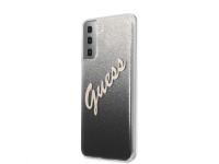Husa Plastic - TPU Guess Vintage pentru Samsung Galaxy S21+ 5G, Neagra, Blister GUHCS21MPCUGLSBK