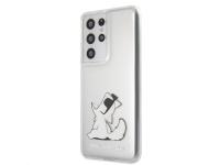 Husa Plastic Karl Lagerfeld Choupette Fun pentru Samsung Galaxy S21 Ultra 5G, Transparenta, Blister KLHCS21LCFNRC