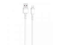 Cablu Date si Incarcare USB la USB Type-C XO Design NB-Q166, 1 m, 5A, Alb, Blister
