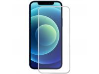 Folie Protectie Ecran Enkay pentru Apple iPhone 12 Pro Max, Sticla securizata, Full Face, Full Glue, 0.2mm, 9H, Argintie
