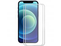 Folie Protectie Ecran Enkay pentru Apple iPhone 12 / Apple iPhone 12 Pro, Sticla securizata, Full Face, Full Glue, Set 2buc, 0.2mm, 9H, Argintie